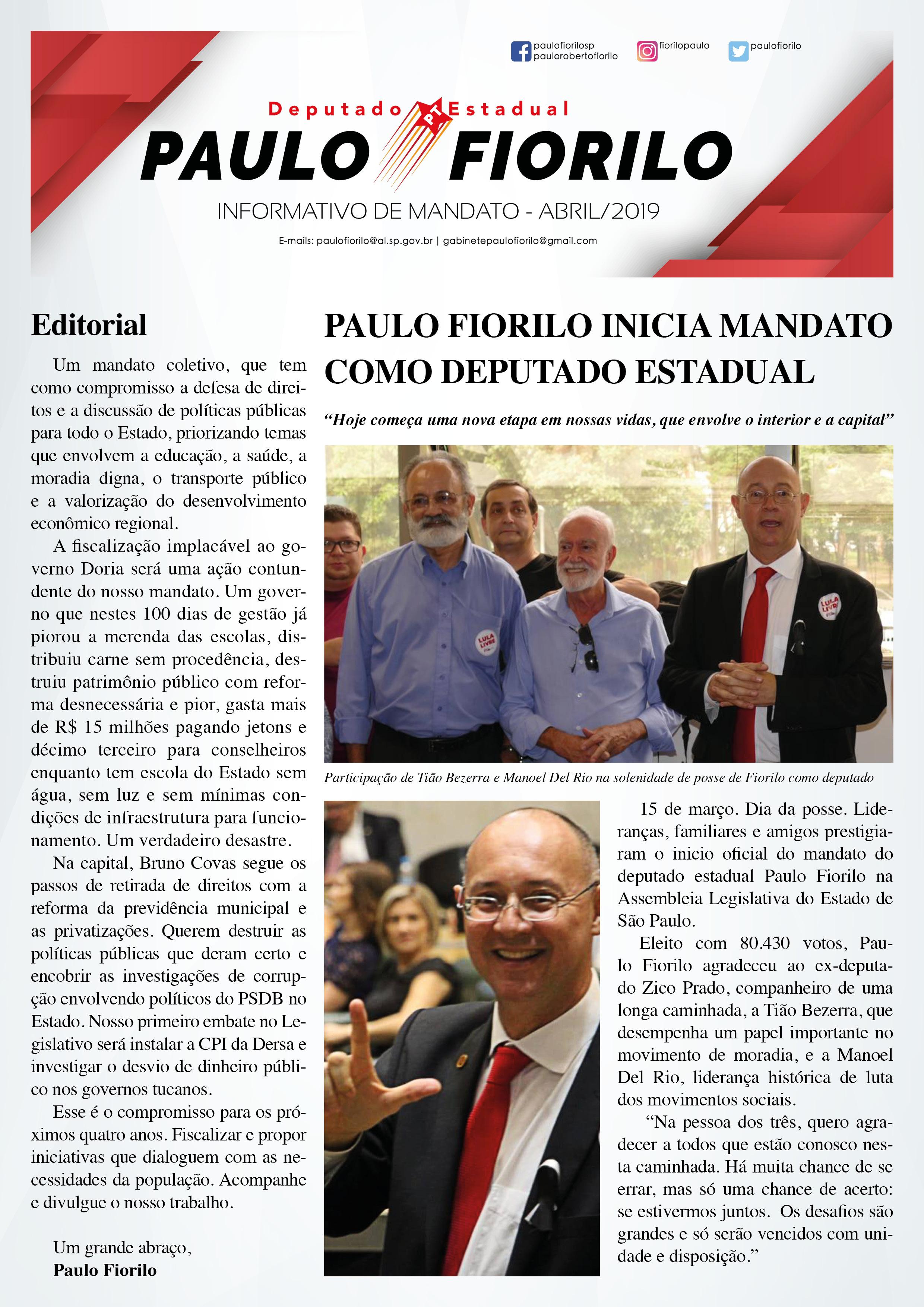 Informativo Abril 2019 | Capa