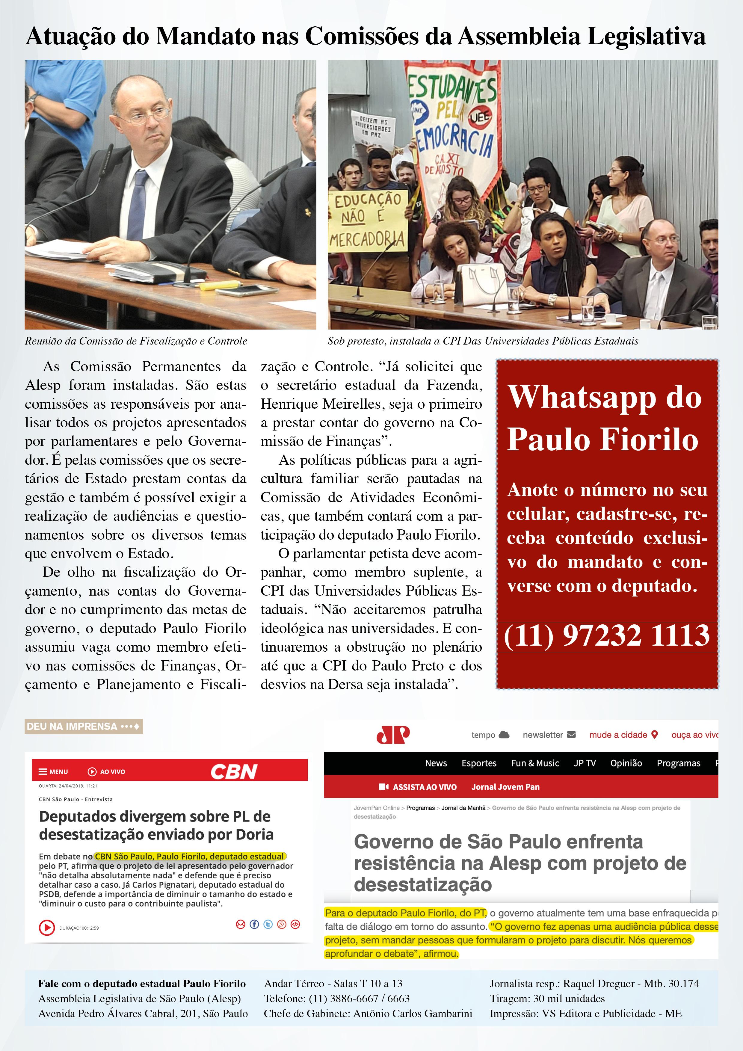 Informativo Abril 2019 | Verso